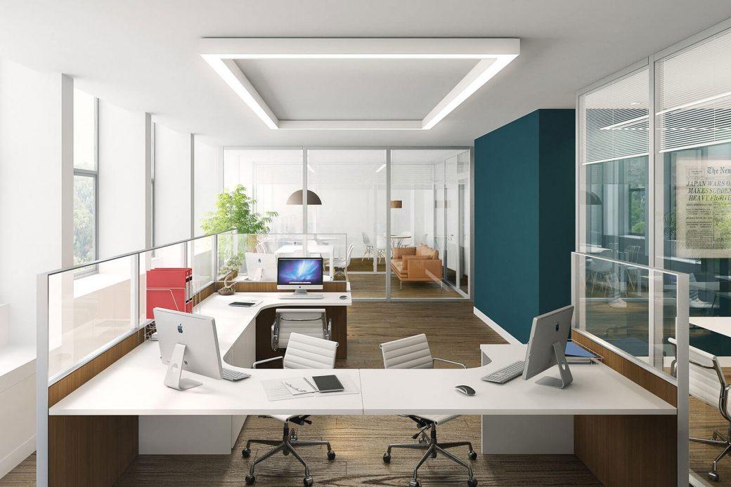 vidrio templado en oficinas