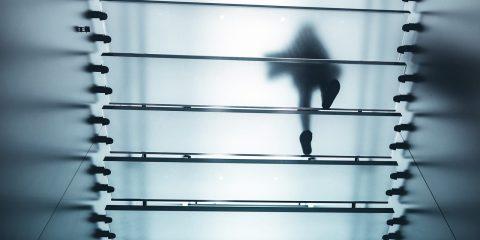Escaleras de vidrio estructural
